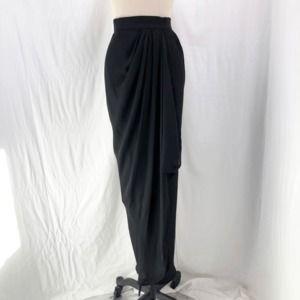 Vintage BOB EVANS Silk Gathered Wrap Maxi Skirt